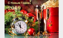С Новым 2019 годом и Рождеством Христовым